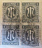 Briefmarken  amerikanische britische Zone