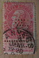 10 Centimes 1893 perfin Belgien
