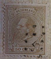 50 cent king Williams Holland 1872/1888