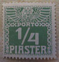 Piaster Portomarken 1908 Levante