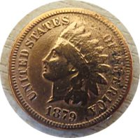 1 Cent 1879 USA Indian Head Penny