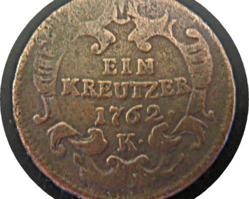 1 Kreutzer 1762 K  Franz I. Stephan v. Habsburg-Lothringen