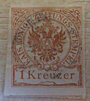 1 Kreuzer 1890 braun Doppeladler im Kreis - Zeitungsmarke / newspaper stamps Austria