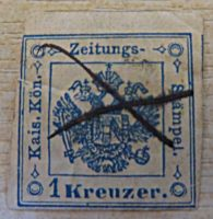 1 Kreuzer Zeitungsmarke 1859