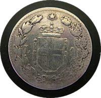 1 Lira 1887 Umberto I Silbermünze Italien