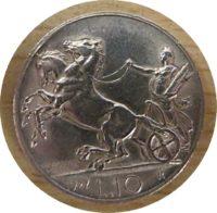 10 Lire 1927 Emanuel III - Silbermünze Italien