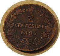 2 Centesimi 1897 König Umberto I.