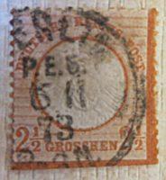 2,5 Groschen 1872 deutsche Reichspost