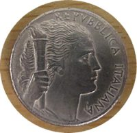 5 Lire 1950 - Italien Münzen