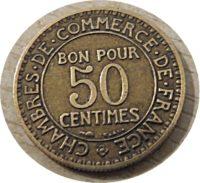 50 Centimes 1923 Bon Pour