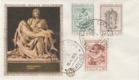 Michelangelo Ersttagsbrief - giorno di emissione Michelangelo 1975
