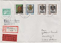 historische Posthausschilder DDR Briefmarken