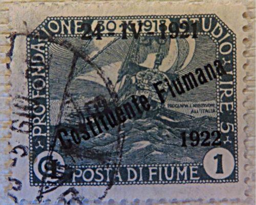 Posta fiume 1919 - 1921 overprint