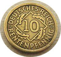 10 Rentenpfennig 1924 deutsches Reich