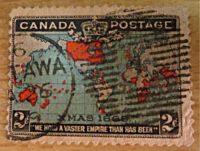 2 Cent 1898 Canada Karte Briefmarke Canada