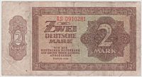 2 deutsche Mark 1948 Banknote