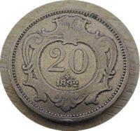 20 Heller 1892 Österreich Franz Joseph I.