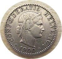20 Rappen 1900 Schweiz