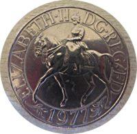 25 Pence 1977 Gedenkmuenze England