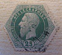 25 centimes telecraphes Belgien