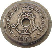 5 Centimes 1905 Belgien