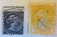 half Cent 1868  Queen Victoria Canada Briefmarken