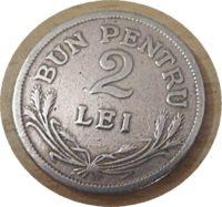 2 Lei 1924 Rumänien Münzen