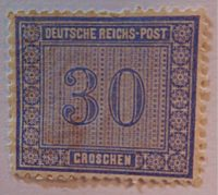 30 Groschen 1872 Briefmarken Deutschland Kaiserreich 1871 - 1918