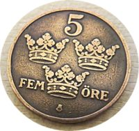 5 FEM-ÖRE 1911 Schweden