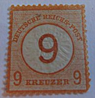 9 Kreuzer 1874 Briefmarken Alt-Deutschland