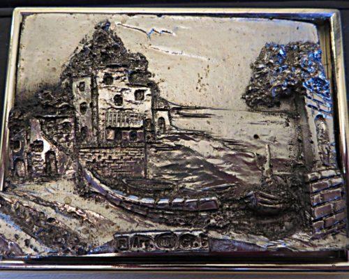 Silber Reliefbild - 800 Silber Italien R. Argento
