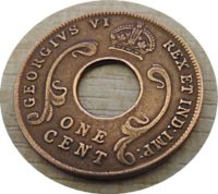 1 Cent 1942  east africa