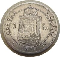 1 Forint 1879 Silbermünze Österreich-Ungarn