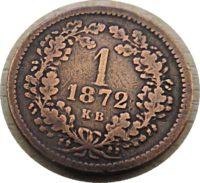 1 Krajczar 1872  Österreich-Ungarn Kaiserzeit Habsburg