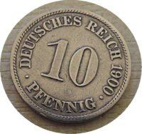 10 Pfennig 1900 Deutschland Kaiserreich