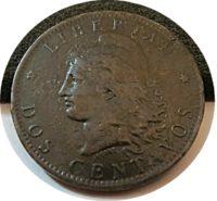 2 Centavos 1887 Argentinien