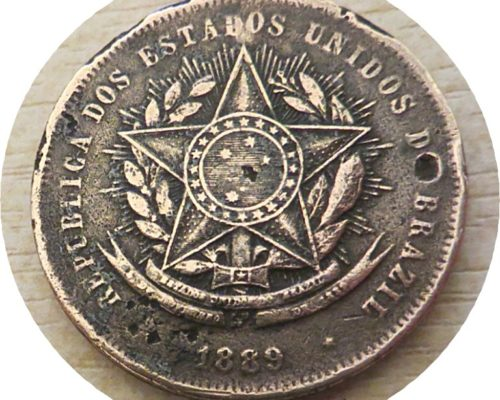 20 Reis 1889 Brasilien Münzen Brazil coins
