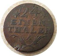 1/24 einen Thaler 1784  Preußen