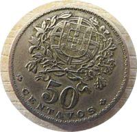 50 Centavos 1927 Portugal Münzen