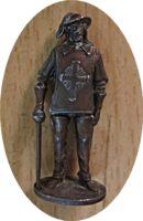 Metallfiguren Überraschungsei Musketier 1975 BRD