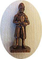 Schweizer Garde 1997 Metallfiguren Überraschungsei
