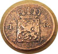 1 Cent 1876 Wilhelm III. Holland Münzen
