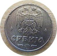 1 Dinar 1942  Serbien Münzen