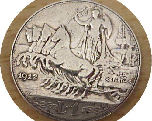 1 Lira 1912 Silbermünze Italien