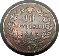 10 Centesimi 1893 Umberto I. Italien