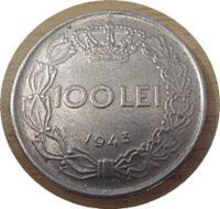 100 Lei 1943  Rumänien Münzen