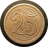 25 Heller 1933 Tschechoslowakei