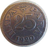 25 Para 1920 Königreich Jugoslawien