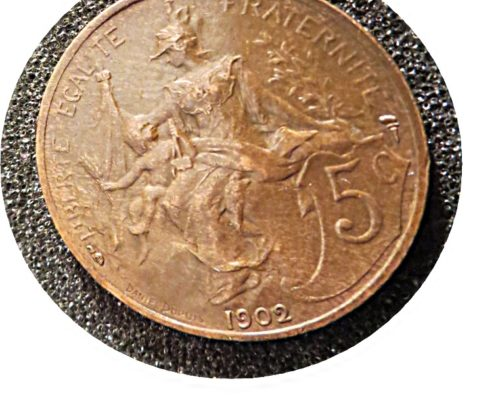 5 Centimes 1902 Frankreich Münzen France coins