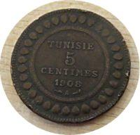 5 Centimes Tunesien 1908  Protektorat Frankreich